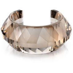 Quartz Bangle: Bracelets - JewelsBoutique ($1,650) ❤ liked on Polyvore featuring jewelry, bracelets, quartz jewelry, hinged bracelet, bracelets bangle, bangle jewelry and hinged bangle