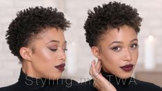 How I Style My Short Hair  TWA [Video] via @blackhairinfo
