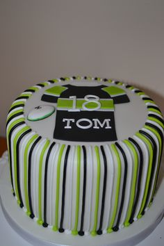 Candy Striped Mens Birthday Cake Wonderland Bakerycouk
