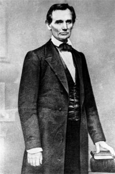 Beardless Abe Lincoln, 1860. Photo by Matthew Brady.