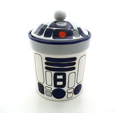Star Wars Inspired Funny Cookie Jar for Sci Fi Fan by LennyMud