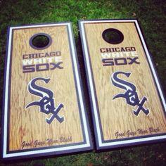 Chicago White Sox custom made cornhole boards/baggo/corn hole  from Great lakes Cornhole for $179 on Square Market