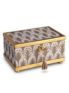 L'Objet Fortuny Piumette 24K Gold-Plated Decorative Box - No Color