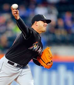Jose Fernandez Photos - Jose Fernandez #16 of the Miami Marlins pitches in the first inning against the New York Mets at Citi Field on April 12, 2016 in the Flushing neighborhood of the Queens borough of New York City. - Miami Marlins v New York Mets