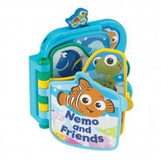 Fish for adventure with underwater friends. The Nemo and Friends book from Fisher-Price brings Baby's favorite characters from FINDING NEMO to life with an electronic story! With every page turn, Baby will unlock the magic of this fun tale. Plus there are lots of activities to keep Baby busy. She can slide Squirt at the top of the page, spin the dial on the side of the book for fun phrases and sounds and play peek-a-boo with Nemo!