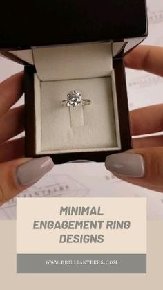 Want a minimal engagement ring design? Shop our solitaire ring designs to find the perfect diamond ring.