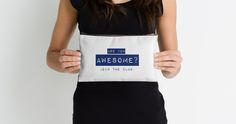 """Awesome"" Studio Pouches by bubbliciousart 