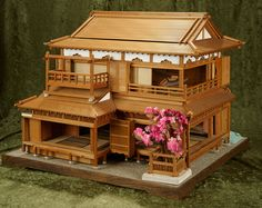 Architecture Concept Drawings, Asian Architecture, Architecture Details, Japanese Style House, Traditional Japanese House, Model House Plan, House Plans, Miniature Houses, Miniature Dollhouse