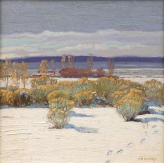 E. Martin Hennings:  Winter, Taos - The Owings Gallery
