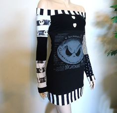 nightmare before christmas clothing | Nightmare Before Christmas Off Shoulder Tunic / Dress by radrocket, $ ...