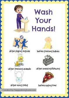 Create healthy hygiene habits for kids - with free printable for this important life skill and routine of hand washing! It's a good idea for hanging on the bathroom wall or using as a teaching activity for younger kids in your family or classroom!