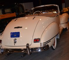 Movie Star Car if there ever was one.  1946 Hudson Convertible.
