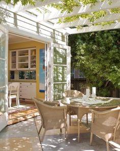 turn kitchen window into door leading onto deck