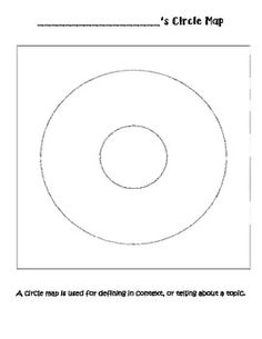 I use this circle map template to introduce circle maps to my students.  They use this map to define something by putting a topic in the middle, and then the characteristics in the surrounding circle.  I use this map for science, math, reading, or any topic that they want to give more details about. Writing Circle, Second Grade Writing, Middle School Writing, Kindergarten Writing, Kindergarten Worksheets, Kindergarten Blogs, Writing Lessons, Reading Lessons, Guided Reading