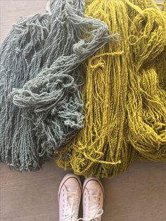 Lana teñida en hermosos colores YE' ii Arte Textil Mexicano Contemporáneo