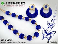 MCSJ058 | MekalaCrafts Silk Thread Jewellery