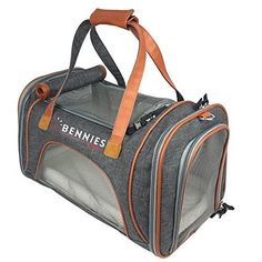 Pet Travel Bag Carrier Tote for Dogs and Cats  Airline Approved  Fits Under the Seat  Soft Sided with Comfortable Fleece Bed  18L x 105W x 11H by Bennies World -- See this great product-affiliate link-affiliate link.