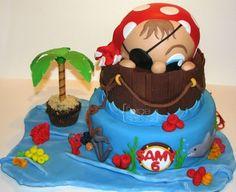 Pirate Birthday Cake - La Forge à Gâteaux