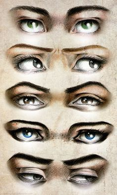 Percy's, Annabeth's, Leo's, Thalia's, and Nico's eyes. I don't agree with percys though.... I imagined them a different green and more intense. Just me? <- it not possible for someone to have a really intense green. And Nico doesn't have grey/black eyes. He has dark brown. The fandom needs to noticed that Nico doesn't have Black/grey eyes. He just has normal dark brown eyes.