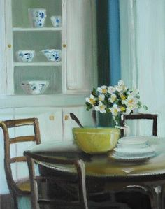 Yellow Salad Bowl by Janet Hill