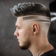 We collected all bald fade haircuts for your inspiration. If you are looking for a modern haircut, bald fade may be suitable for you. Bald Fade, Undercut Hairstyles, Hairstyles Haircuts, Undercut Pompadour, Men Undercut, Cool Hairstyles For Men, Haircuts For Men, Haare Tattoo Designs, Undercut Hair Designs