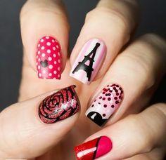 so sweet pink nail art