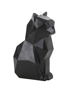 Pyropet Kisa Black Skeleton Cat Candle,