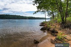 Lake Allatoona's sandy shore at Red Top Mountain State Park north of Atlanta