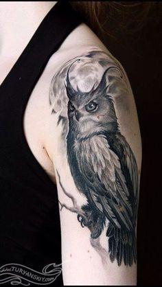 owl tattoo- left thigh inspiration