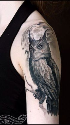 owl tattoo- left thigh inspiration