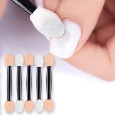 20 or 50 Pcs BORN PRETTY Sponge Nail Powder Double-ended Puff Brush