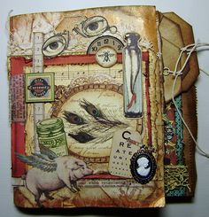 Mini Album Olde Curiosity Shoppe - Shown page-by-page on her board