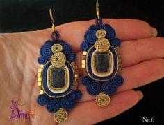 Lazurite soutache earrings por Diinabel en Etsy