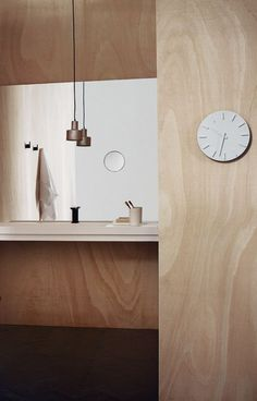 Plywood bathroom - via cocolapinedesign.com.