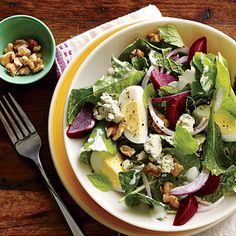 Kale & Beet Salad with Blue Cheese & Walnuts Recipe  | MyRecipes