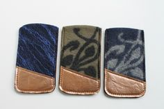 PHONE CASES WITH COPPER LEATHER AND FELT by Grotkop Collection
