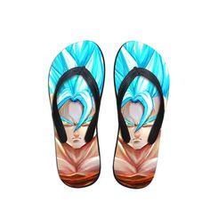 35d5c1f3365d DBZ SSGSS Super Saiyan Blue Goku Sandals Beach Flip Flop Shoes  dbz   flipflops