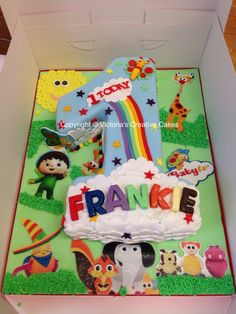 Baby TV number 1 cake
