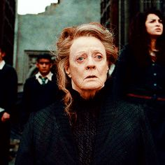 Minerva. she's AWESOME. This was heartbreaking for me seeing a woman stronger and bigger than life so sad and tired and broken...didn't it turn out Maggie Smith was fighting cancer at the time? She's amazing!
