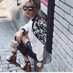 These black and white block heel have all the women talking! Treat yourself with a pair of these beauties!