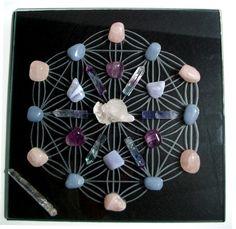 Reiki, Spirituality, and Crystal Healing: Star Gate Portal Crystal Grid Crystals Minerals, Rocks And Minerals, Crystals And Gemstones, Stones And Crystals, Gem Stones, Crystal Magic, Crystal Grid, Crystal Healing, Crystal Mandala