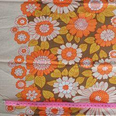SALE - Seventies vintage floral fabric. $4.50, via Etsy.