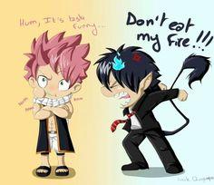 Fight! Fight! - Natsu & Ren #fairytail #blueexorcist
