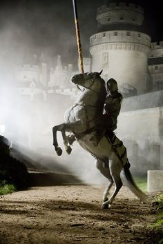 """""""'Well this is cool. Knight in shining armor...' That's not any knight, it's Lancelot off of Merlin!"""""""