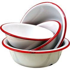 vintage enamelware bowls - I still have one of these that I use during Passover only; Vintage Enamelware, Vintage Kitchenware, Vintage Kitchen Decor, Vintage Tins, Vintage Antiques, Vintage Decor, Red Kitchen, Country Kitchen, Kitchen Collection