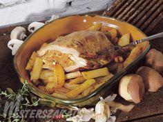 Töltött dagadó jóasszony módra Pot Roast, Pork, Turkey, Menu, Ethnic Recipes, Easter, Carne Asada, Kale Stir Fry, Menu Board Design