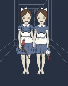 The Shining (Grady Twins) -Bioshock little sisters mash up. Awesome.