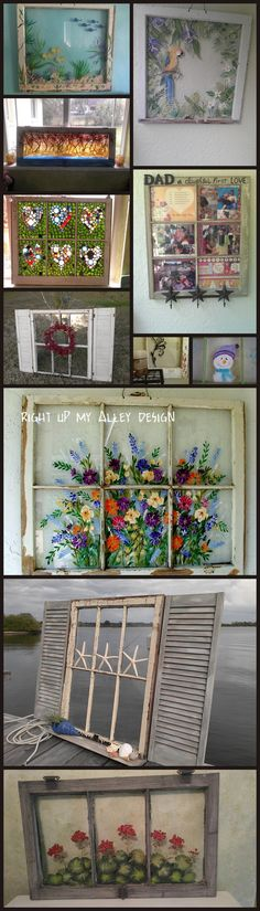 Check out the MANY USES for old sash windows at RIGHT UP MY ALLEY DESIGNS See more on my Etsy shop here: https://www.etsy.com/shop/RightUpMyAlleyDesign?ref=hdr_shop_menu