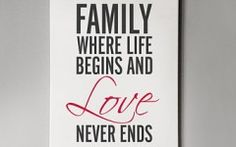 Family Quotes On Canvas