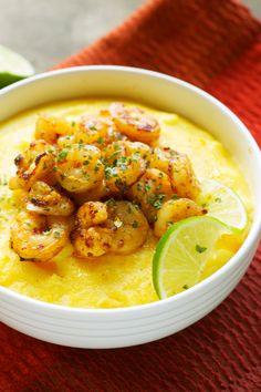 Like chili shrimp with slow cooker polenta. Only did the shrimp with some store bought polenta I made. It didn't go well probably nothing to do with the recipe but gross frozen cooked shrimp that were freezer burnt and bad polenta. Crock Pot Slow Cooker, Crock Pot Cooking, Slow Cooker Recipes, Crockpot Recipes, Cooking Recipes, Healthy Recipes, Cooking Ideas, Easy Recipes, Delicious Recipes